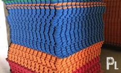 We are manufacturers of rubber interlocking gym mats