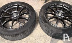 17 inch rims (advan rz) with goodride tires 205/45r17