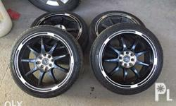 Prodriv 17 inches mags with maxxis vectra tires 205/45