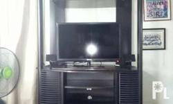 Tv rack w/ dvd slots and space on both sides. Original