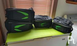 2 Saddle bags, 1 magnetic tank bag and 1 windshield for
