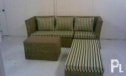 "Deskripsiyon 1 Set Living room set""abaca(made of"