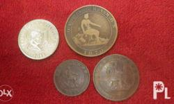 SALE! 1870 Spanish Era 2,5 and 10 Cents set Perfect for
