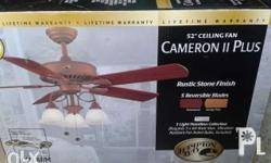 SALE! Brand New 52� Ceiling Fan with Lamp from U.S.A.