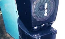 600 watts crown speakers - pair brandnew fix price