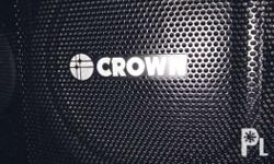 750 watts crown speakers - pair call/text o9 32 9 3 9