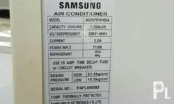 Samsung 1hp window type airconditioner In good