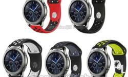 Samsung Gear S3 Sports Silicone Strap Colors are black