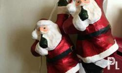 Hanging Santa Claus Christmas Decor Take all 4 for