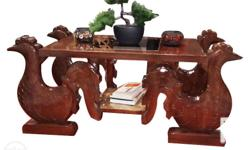 The center table was purely made from mahogany. It has
