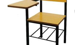 SCHOOL ARMCHAIR square tubular frames with high