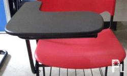 School Chair without book tray, Solid plastic arm