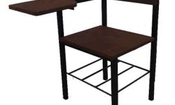 SCHOOL ARMCHAIR marine plywood and angle bar frame or