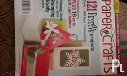 10 pieces scrapbooking and paper craft magazines