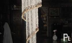 Hanging Sea Shell Decorative piece,,, 55 inches long We