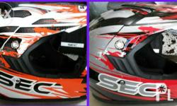 SEC X-moto helmet With goggles included Brandnew Php