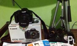 Selling my: 1. Secondhand Canon 1100d complete set with