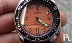 for sale .. seiko diver 7002-700a orange face good