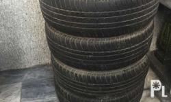 """15'' Rims 4x100 with tires For Sale. 15"""" - 4x100. Comes"""