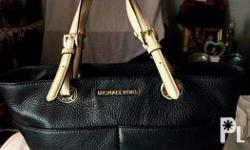 A Brand New Black Leather Michael Kors Bag see to