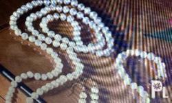 A Set of Japanese cultured Pearl in 14 k plated see to