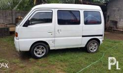 selling as is 2002 suzuki mini van running condition