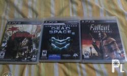 Selling my ps3 games for 1300 nego. Meet ups at