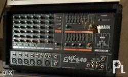 Yamaha E M X 640 Power Mixer Amplifier 6 channels well