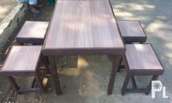table size 26inch x 36inch stool size 14inch x 14inch
