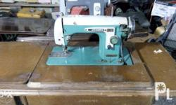 Manual to be electric dual sewing machine, heavy duty