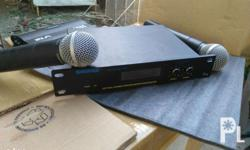 two wireless microphone set of Shure audio specialist