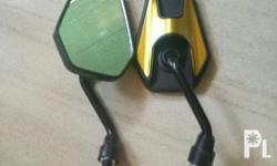 Motorcycle Side Mirror Color: Yellow Gold