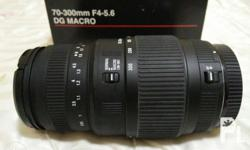 Sigma Lens 70-300mm DG Macro For Canon AF Telephoto
