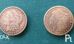 Pair of Silver Dollars Fair Condition 1892 o 1921 s