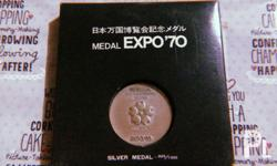 Japan Expo 70, silver medal. Collectible item Pwedeng