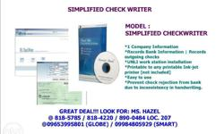 DAVID LINK � SIMPLIFIED CHECK WRITER SOFTWARE Check