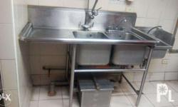 For Sale Sink, 2 Compartment with Grease trap If