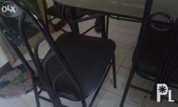 Six seater.black color.perfect for dining area