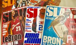Slam magazine, lot of 6 issues. 3 issues with Lebron