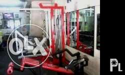 List of gym equipments for sale: 1. lat pull down with
