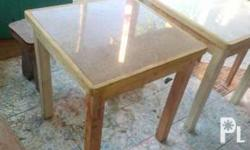 table top ay granite. naka lubog sa solid wood. ideal