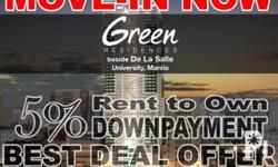 SMDC Green Residences Promo Now Rent To Own 5% Down