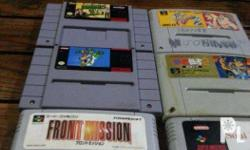 For sale 6 pieces Snes/Famicom cart bundle all cart on