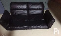 Sofa bed Pure leather 3x recline Japan made