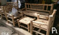 Bamboo made sofa or sala set From talisay mountain of