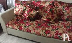 Combination red and green 2pcs sofa with 10pcs pillows