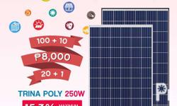 Now on stocks!!! Trina Solar Solar Wind Panels 8,000