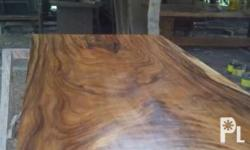 Solid acacia top for dining table 8seter 4inc thick