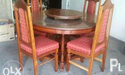Solid Narra Four Seater Dining Set This is a old item