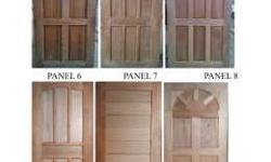 Solid panel door Materials: kilndry mahogany/tanguile